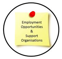 Employment opportunities and Support Organisations