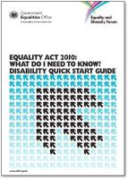 Equality Act 2010 Disability Quick Start Guide