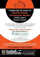 Nottingham Mental Health Awareness Week Poster 2017