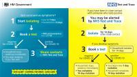 NHS Test & Trace chart