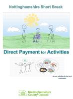 Nottinghamshire Short Breaks Direct payment for Activities