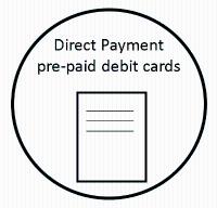 Direct Payment pre-paid debit cards