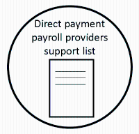 Direct payment payroll providers support list