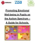 Promoting Emotional Well-being in Pupils on the Autism Spectrum – A Guide for Schools.