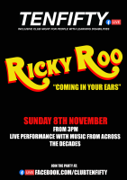 Tenfifty Ricky Roo event on Facebook live poster