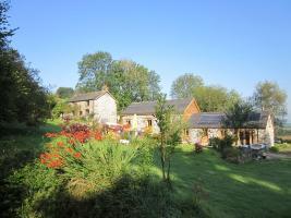 Tyddyn Retreat surrounded by gardens