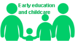 Early education and childcare logo (green)
