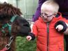 SEN child with our alpaca
