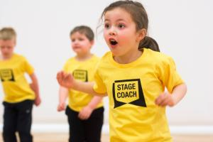 Young children having fun in Stagecoach class.