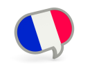 French Flag Speech bubble