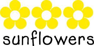 Sunflowers drop-in logo