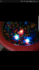 Ball pit with lights