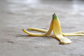 Banana skin on the floor