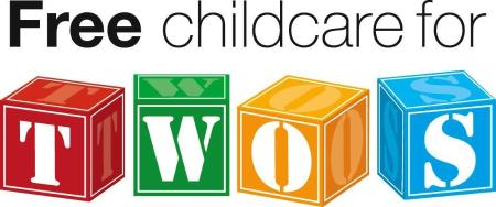 Free for twos childcare logo