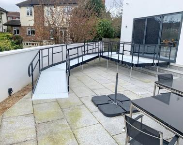 Ramp access to a garden