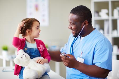 Child with nurse