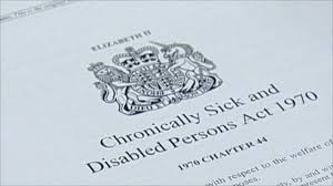 Chronically Sick and Disabled Person's Act 1970