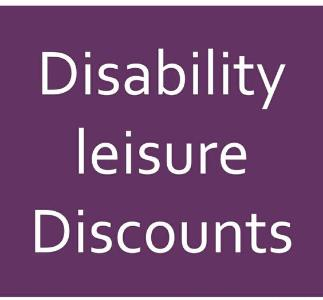 Disability leisure discounts logo