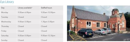 Eye Library Opening times