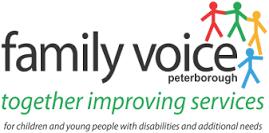 logo for family voice peterborough