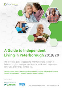 front over of the Guide to Independent Living in Peterborough 2019/20