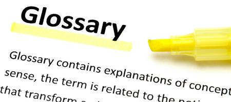 Picture of a glossary