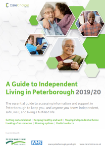 Guide to Independent Living front page