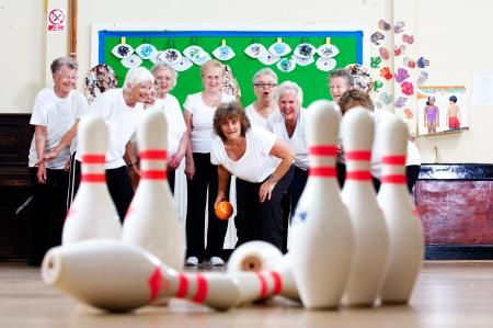 Ladies ten pin bowling
