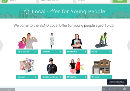 example of the new webpage for the Local offer
