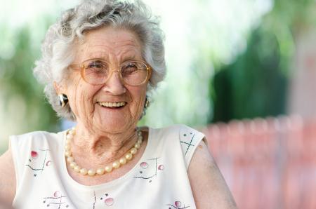 Older lady smiling