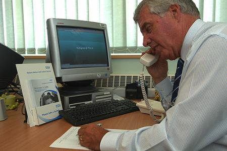 professional on telephone