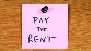 Pay the rent post it note