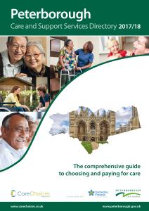 Front page of the Peterborough Care and Support Services Directory
