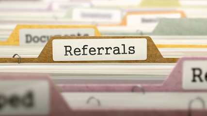 Referrals in filing cabinet