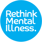 Logo for rethink mental illness