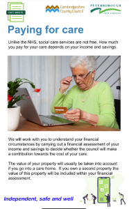 Paying for Care Fact sheet