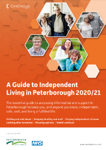 Photo of the cover of the Guide to Independent Living in Peterborough 2020/21