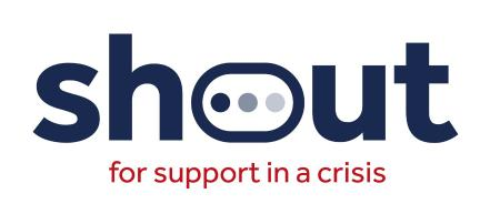 logo for shout for support in a crisis