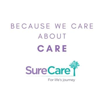 logo for sure care Peterborough
