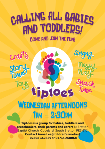 Tiptoes Toddler Group Poster
