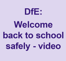 DfE: welcome back to school safely video