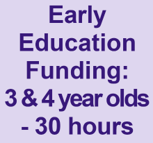 Early Education Funding for 3 and 4 year olds - 30 Hours