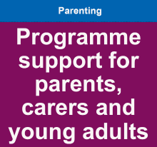 Programme support for parents, carers and young adults