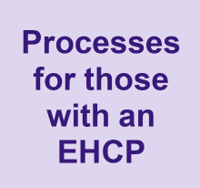Processes for those with an EHCP