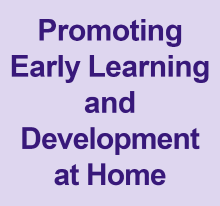 Promoting early learning and development at home