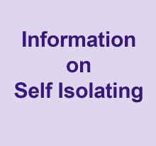 Information on self isolating