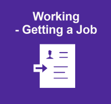 Working - getting a job