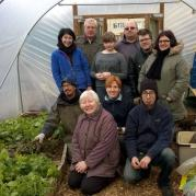 volunteers in the polytunnel at Southcote GrowAllot