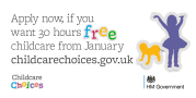 Apply now if your want 30 hours FREE childcare from January