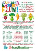 Food 4 Families Holiday Activity Fund (HAF) Activities flyer